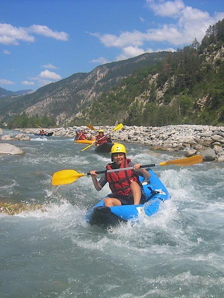 Descente en kayak découverte sur la rivière du Var dans les Alpes Maritimes 06 NIce.