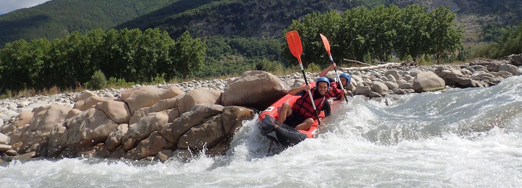 Descente en kayak du Var, de la Vésubie, ou du Verdon. Parcours sportif en kayak.