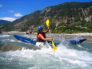 Kayak decouverte sur la rivière du Var à Nice Puget-théniers Entrevaux