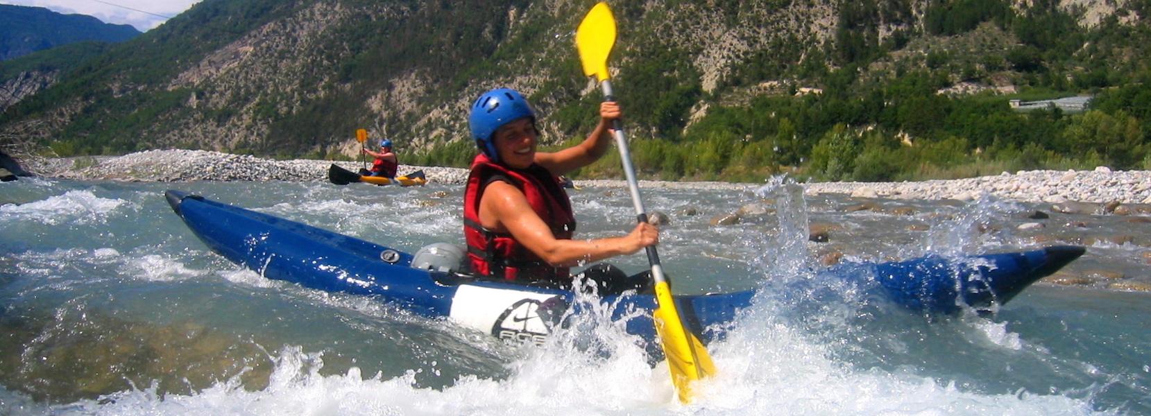 Descente en kayak de la rivière du Var dans les Alpes Maritimes 06.