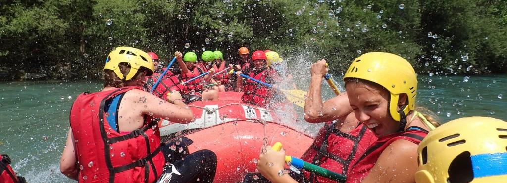Rafting dans les Gorges du Verdon.