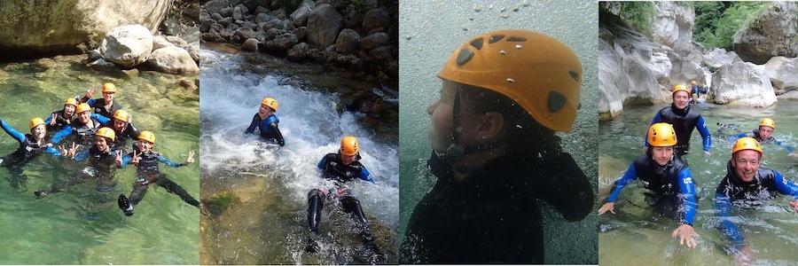 Randonnée aqauatique dans les Gorges du loup, initiation au canyoning dans les Alpes Maritimes 06