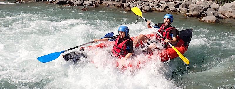 Descente de la mescla en kayak à Nice dans les Alpes Maritimes 06.