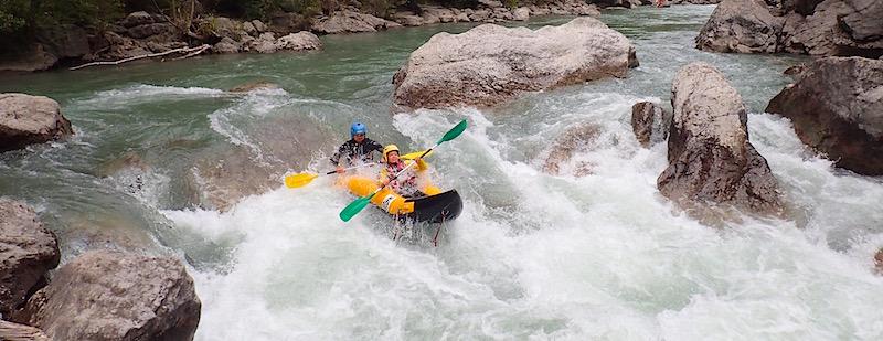 Descente en kayak sportif sur le Verdon ou la Vesubie